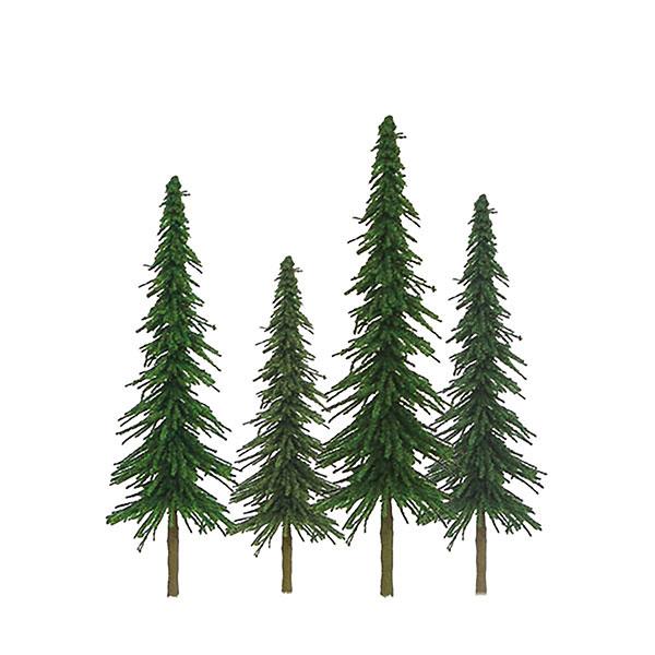 HOスケール モミの木 サイズ:高さ約10cm&15cm(24本入り)[JTTミニチュアツリー]《在庫切れ》