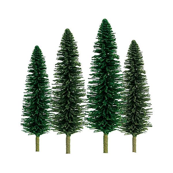 Nスケール ヒマラヤスギ サイズ:高さ約5cm&約10cm(36本入り)[JTTミニチュアツリー]《在庫切れ》
