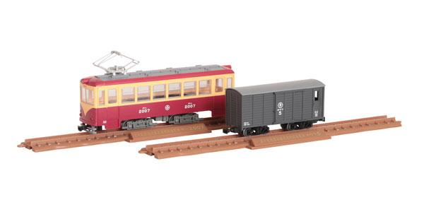 鉄道コレクション ナローゲージ80 猫屋線直通用路面電車(全金車)+貨車セット[トミーテック]《発売済・在庫品》
