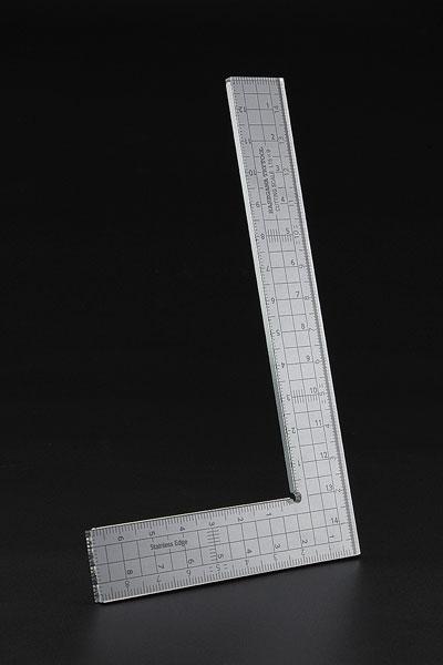 カッティングスケール L字型(15cm×9cm) [ステンレスエッジ加工][ハセガワ]《在庫切れ》