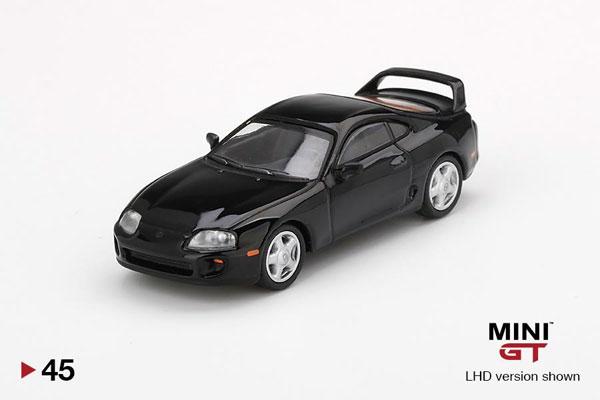 1/64 Toyota スープラ(JZA80) ブラック(右ハンドル)[MINI GT]《在庫切れ》