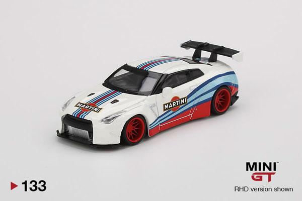 1/64 LB★WORKS Nissan GT-R R35 タイプ1 リアウイング バージョン 1 マルティニレーシング (左ハンドル)[MINI GT]《07月予約》