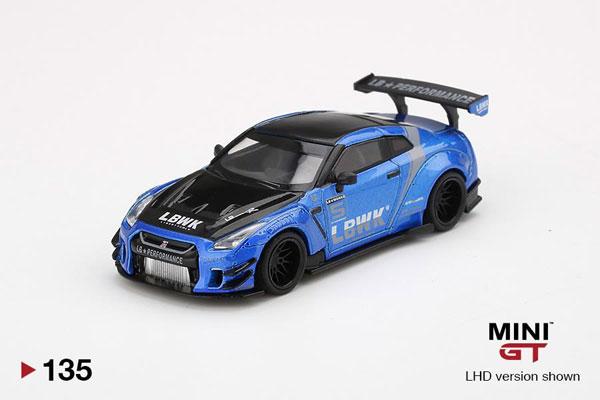 "1/64 LB★WORKS Nissan GT-R R35 タイプ2 リアウイング バージョン 3 ブルー ""LBWK"" 2.0(左ハンドル)[MINI GT]《07月予約》"