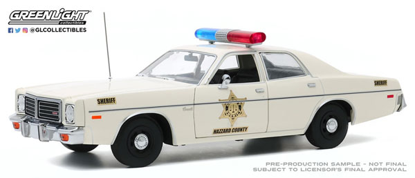 1/18 Artisan Collection - 1975 Dodge Coronet - Hazzard County Sheriff[グリーンライト]《10月仮予約》