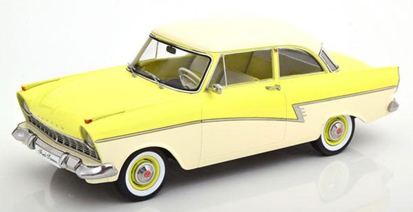 1/18 Ford Taunus 17M P2 1957 lightyellow/white[KKスケール]《07月予約》