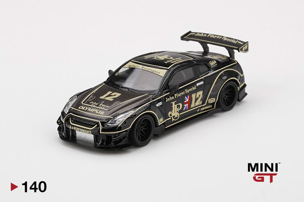 1/64 LB★WORKS Nissan GT-R R35 タイプ2 リアウイング バージョン 3 JPS(左ハンドル)[MINI GT]《08月予約》