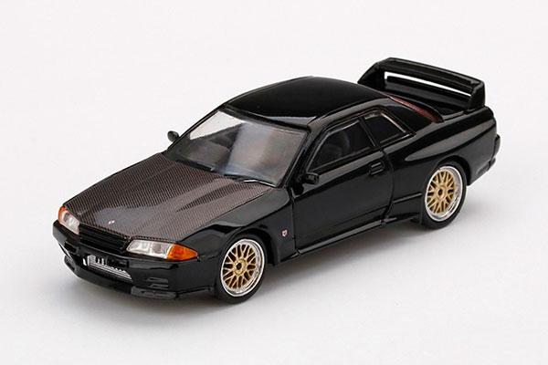 1/64 Nissan GT-R R32 ブラック BBS LMホイール(右ハンドル)[MINI GT]《09月予約》