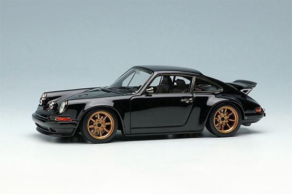 1/43 シンガー 911(964) クーペ (ウィングアップ) ブラック[メイクアップ]【送料無料】《在庫切れ》