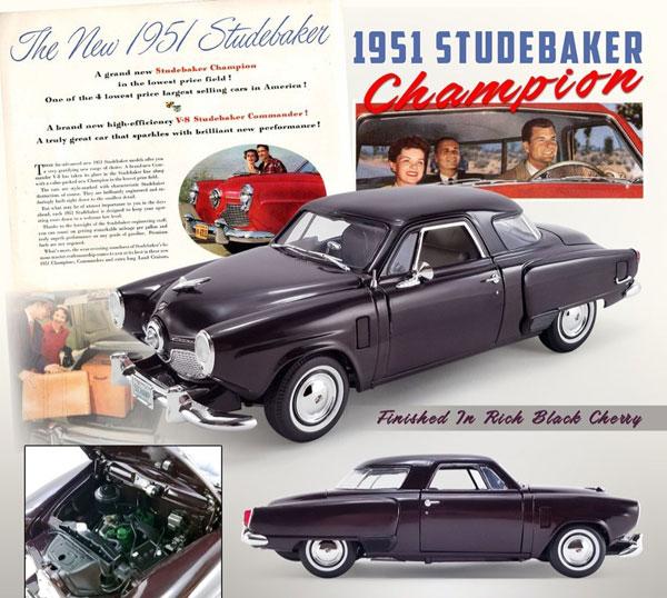 1/18 1951 Studebaker Champion Finished in Rich Black Cherry[ACME]【送料無料】《在庫切れ》
