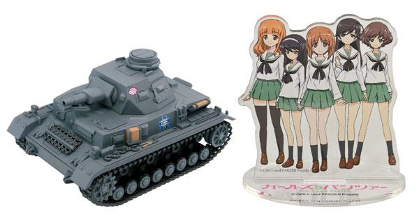 ガールズ&パンツァー IV号戦車D型 エンディングVer. 半塗装済みプラモデル アクリルフィギュア付き[ぺあどっと]《在庫切れ》