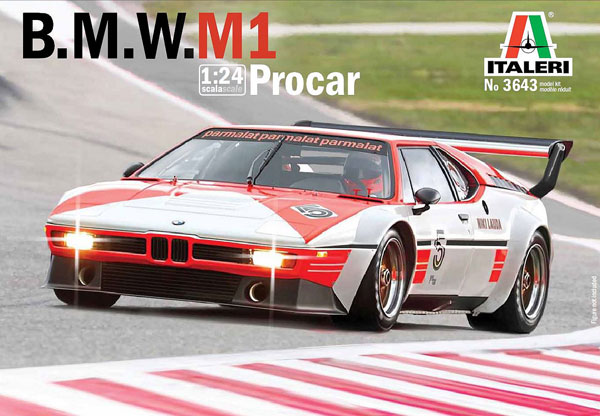 1/24 BMW M1 プロカー(日本語説明書付属) プラモデル[イタレリ]《在庫切れ》
