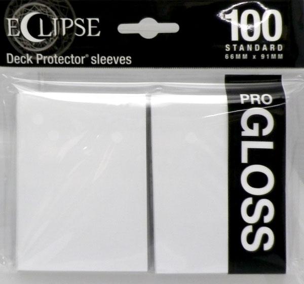 エクリプス・グロス 高光沢スリーブ スタンダードサイズ アークティックホワイト・Arctic White (88-15600) パック[Ultra・PRO]《発売済・在庫品》