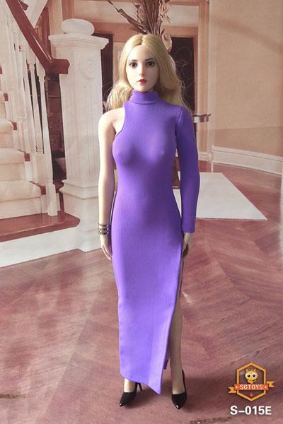 1/6 セクシー ウーマンズ イブニングドレス ロングスカート E (ドール用)[SGトイズ]《09月仮予約》