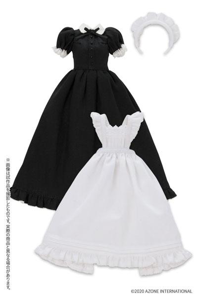 ピュアニーモ用 1/6 PNS クラシカルロングメイド服(半袖)セット ブラック (ドール用)[アゾン]《在庫切れ》