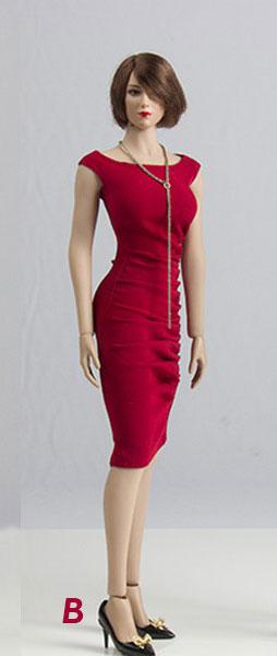 1/6 セクシー タイトイブニングドレス セット B (ドール用)[ウォルフォードトイズ]《12月仮予約》