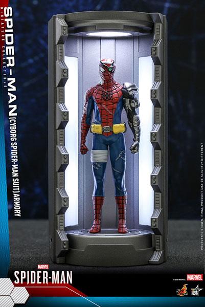 ビデオゲーム・マスターピース COMPACT スパイダーマン(サイボーグ・スパイダーマン・スーツ/スーツ格納庫付)[ホットトイズ]《11月仮予約》