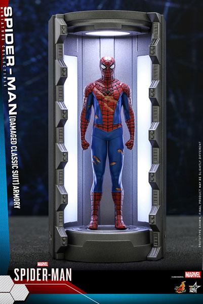 ビデオゲーム・マスターピース COMPACT スパイダーマン(損傷ありクラシック・スーツ/スパイダースーツ格納庫付き)[ホットトイズ]《11月仮予約》