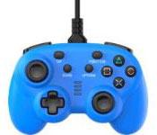 ワイヤード コントローラー ミニ ブルー (PS4/Switch用)[サイバーガジェット]《発売済・在庫品》