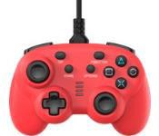 ワイヤード コントローラー ミニ レッド (PS4/Switch用)[サイバーガジェット]《発売済・在庫品》