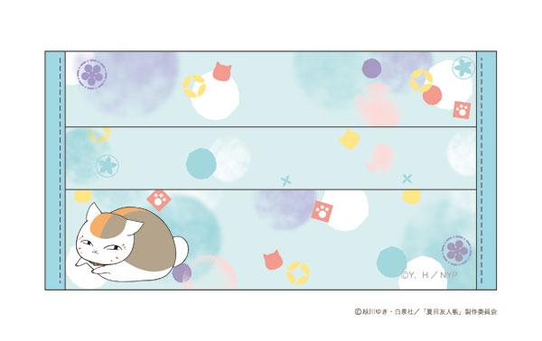 夏目友人帳 マスクカバー クールタイプ ニャンコ先生 ブルー_0