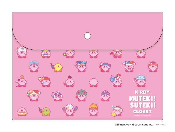 星のカービィ KIRBY MUTEKI! SUTEKI! CLOSET フラットケース ピンク_0