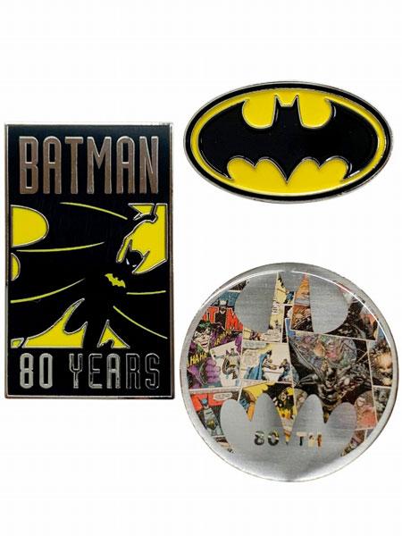 BATMAN 80 YEARS/ バットマン ピンバッジ セット[イン・ロック]《在庫切れ》