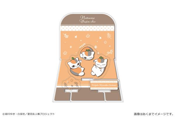 夏目友人帳 アクリルジオラマスタンド 01 トリプルニャンコ先生A_0