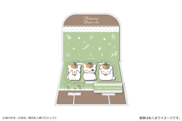 夏目友人帳 アクリルジオラマスタンド 02 トリプルニャンコ先生B_0