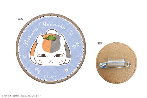夏目友人帳 合皮バッジ 03 ニャンコ先生C_0
