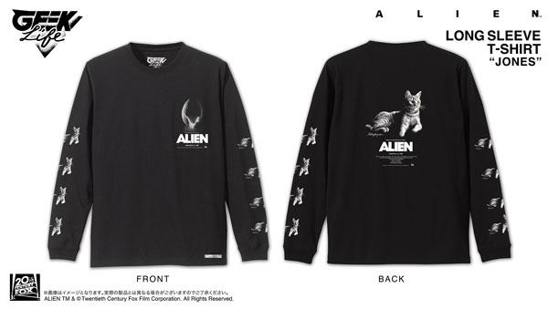 ALIEN JONES Long Sleeve T-shirt Artwork by Rockin'Jelly Bean BLK/ S[GEEK LIFE]《在庫切れ》