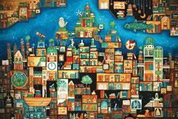ジグソーパズル 西村典子 忘れられた本の王国 1000ピース (11-602S)[エポック]《発売済・在庫品》