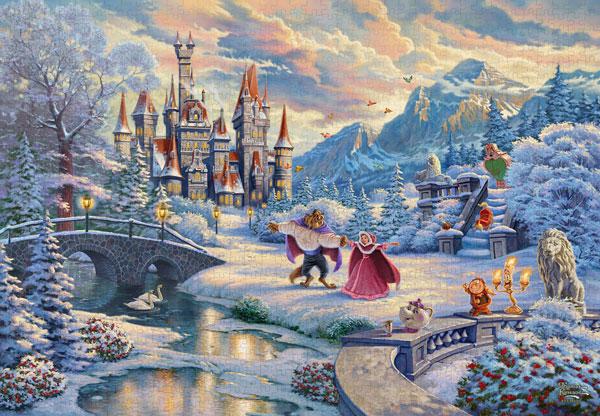 ジグソーパズル Beauty and the Beast's Winter Enchantment 1000ピース(D-1000-072)[テンヨー]《在庫切れ》