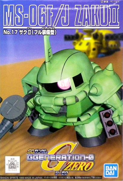 SDガンダム G-GENERATION No.17 ザクII フル装備 プラモデル(再販)[BANDAI SPIRITS]《発売済・在庫品》