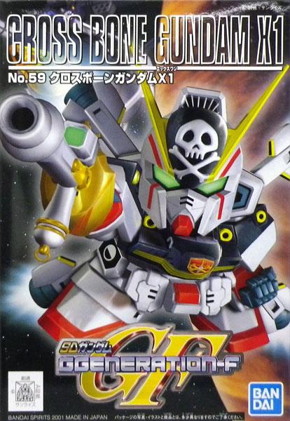 SDガンダム G-GENERATION No.59 クロスボーンガンダムX1 プラモデル(再販)[BANDAI SPIRITS]《発売済・在庫品》