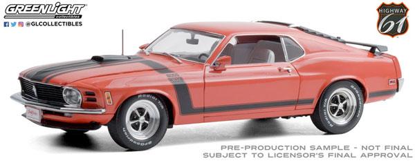 1/18 Barrett-Jackson 1970 Ford Mustang BOSS 302 Fastback Calypso Coral (Scottsdale 2019,Lot #790)[グリーンライト]《発売済・在庫品》