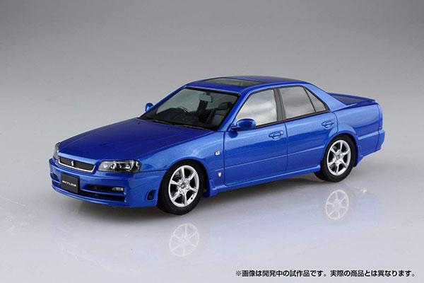 ザ・モデルカー No.88 1/24 ニッサン ER34 スカイライン 25GT TURBO '01 プラモデル(再販)[アオシマ]《12月予約》