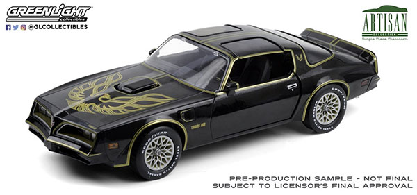 1/18 Artisan Collection - 1977 Pontiac Firebird Trans Am - Starlite Black with Golden Eagle Hood[グリーンライト]《01月仮予約》