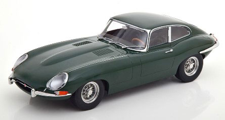 1/18 Jaguar E-Type Coupe Series 1 LHD 1961 british racing green/black interior[KKスケール]《01月予約》