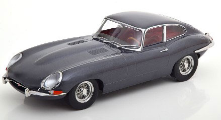 1/18 Jaguar E-Type Coupe Series 1 LHD 1961 grey-metallic/darkred interior[KKスケール]《01月予約》