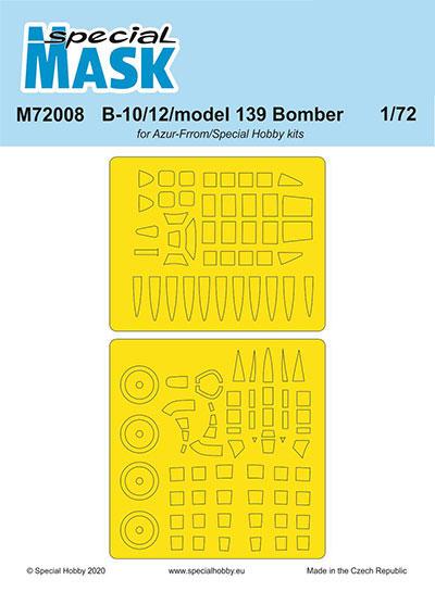 1/72 マーチンB-10/12用マスクシールセット・スペシャルホビー[CMK]《11月予約》