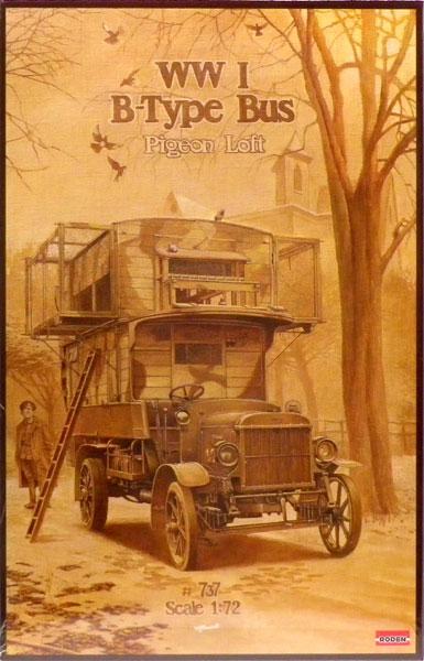 1/72 英・タイプBダブルデッカー伝書鳩輸送車「ピジョンロフト」WW1 プラモデル(再販)[ローデン]《在庫切れ》