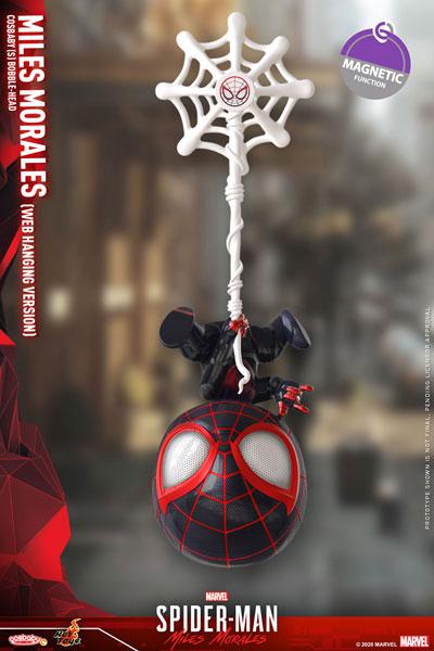 コスベイビー Marvel's Spider-Man:Miles Morales サイズS マイルス・モラレス/スパイダーマン(ウェブ・ハンギング)[ホットトイズ]《発売済・在庫品》