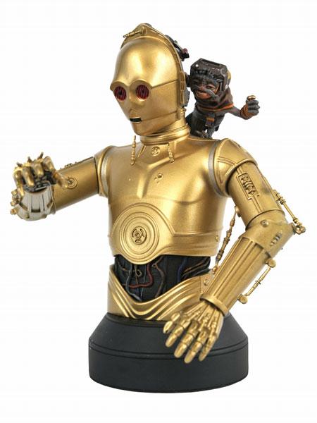 スターウォーズ スカイウォーカーの夜明け/ C-3PO with バブ・フリック 1/6 バスト[ダイアモンドセレクト]《09月仮予約》