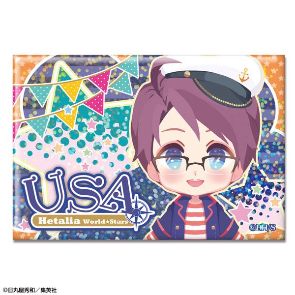 ヘタリア World★Stars ホログラム缶バッジ Ver.2 デザイン04(アメリカ)(再販)[ライセンスエージェント]《07月予約》