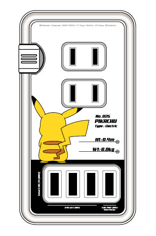 ポケットモンスター USBポート付きACタップ ピカチュウB_0