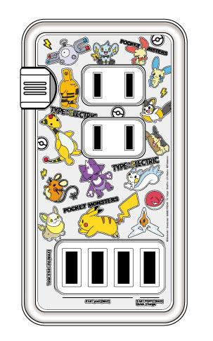 ポケットモンスター USBポート付きACタップ でんきタイプ_0