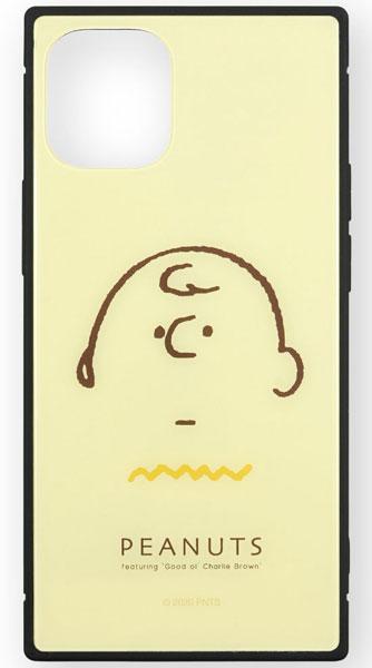 ピーナッツ iPhone 12 mini 対応スクエアガラスケース チャーリー・ブラウン[グルマンディーズ]《在庫切れ》