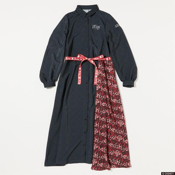 『ディズニー ツイステッドワンダーランド』 7Dormitories Maxi Shirts Dress ハーツラビュル寮 RED L[R4G]《発売済・在庫品》