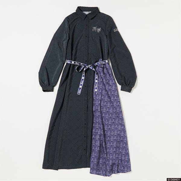 『ディズニー ツイステッドワンダーランド』 7Dormitories Maxi Shirts Dress ポムフィオーレ寮 NVY M[R4G]《発売済・在庫品》