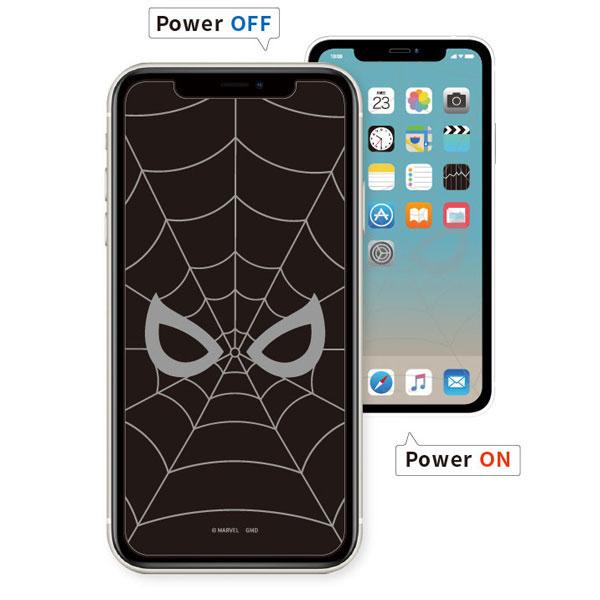 MARVEL iPhone 12 mini 対応ガラススクリーンプロテクター スパイダーマン[グルマンディーズ]《在庫切れ》